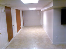 Basement Finishing Completed with Drywall and Doors