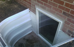Egress Window Well Installation Completed Exterior