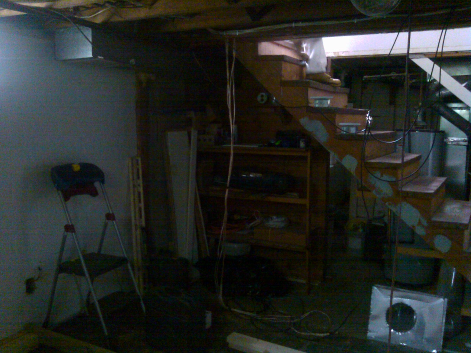 Basement Remodeling Stairs Before