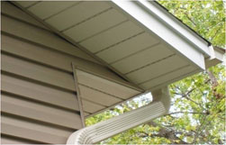 Vinyl Siding Installation Soffit Completed
